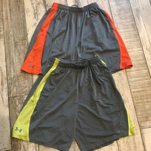 3/$20 2 pairs Under Armour YLG (14) loose shorts